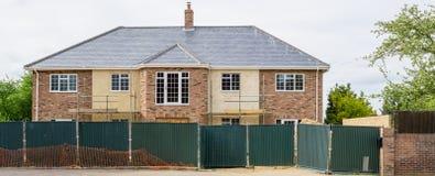 Nieuw groot Engels herenhuishuis die worden gebouwd Stock Foto's