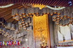 Nieuw Heiligdom van de Guadalupe Basilica Guadalupe Painting Mexico-Stad Mexico royalty-vrije stock afbeelding