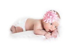 Nieuw - het geboren Meisje van de Baby Stock Afbeelding