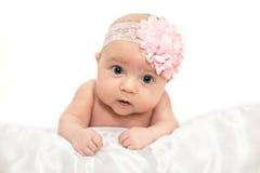 Nieuw - het geboren Meisje van de Baby Royalty-vrije Stock Afbeelding