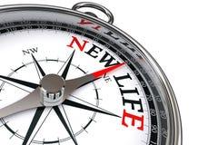 Nieuw het levens conceptueel kompas vector illustratie