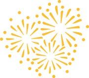 Nieuw het vuurwerkpictogram van de jarenvooravond stock illustratie