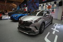 Nieuw Honda CH-r toont bij de auto van Maleisië van 2017 autoshow Stock Afbeelding