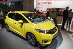 Nieuw Honda Jazz bij IAA 2015 Stock Foto's