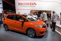 Nieuw Honda Jazz bij IAA 2015 Royalty-vrije Stock Afbeeldingen