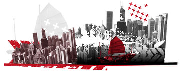 Nieuw Hongkong Vector Illustratie