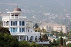 Nieuw hotel in yalta stock afbeelding