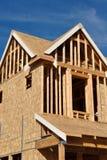 Nieuw Huis in aanbouw Royalty-vrije Stock Afbeeldingen