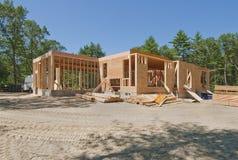 Nieuw huis in aanbouw Royalty-vrije Stock Foto