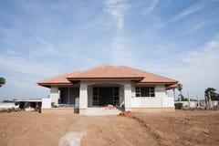 Nieuw huis in aanbouw Stock Foto's