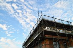Nieuw huis in aanbouw Stock Afbeelding