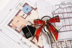Nieuw huis als gift! Royalty-vrije Stock Fotografie