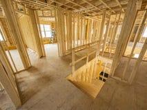 Nieuw huis binnenlandse bouw Stock Afbeelding