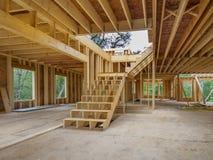 Nieuw huis binnenlandse bouw Stock Afbeeldingen