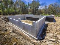 Nieuw huis concrete stichting Royalty-vrije Stock Foto
