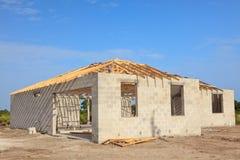 Nieuw Huis Consturction Stock Afbeeldingen
