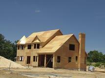 Nieuw Huis dat wordt gebouwd stock foto