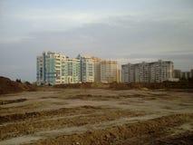 Nieuw huis, de nieuwe bouw, Stock Fotografie
