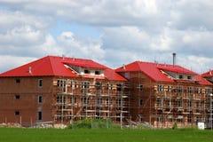 Nieuw huis en huisbouw stock foto's