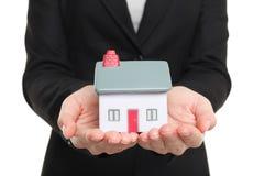 Nieuw Huis en huiseigenaarconcept Stock Afbeeldingen