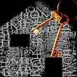 Nieuw huis, sleutels Stock Foto