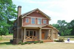 Nieuw huis voor verkoop stock fotografie