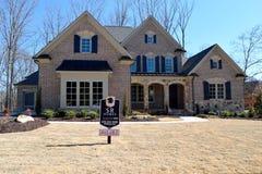 Nieuw huis in Watkinsville, Georgië Stock Foto