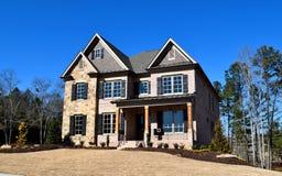 Nieuw huis in Watkinsville, Georgië Royalty-vrije Stock Foto's