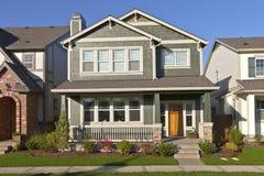 Nieuw huis in Wilsonville Oregon stock foto's