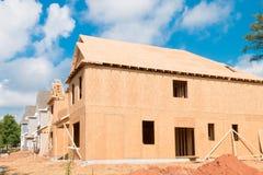Nieuw huisbouw Stock Afbeeldingen