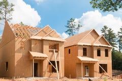 Nieuw huisbouw Royalty-vrije Stock Foto's