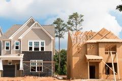 Nieuw huisbouw Royalty-vrije Stock Afbeelding