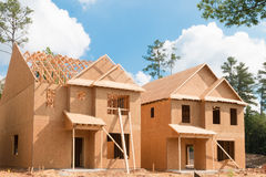 Nieuw huisbouw Stock Afbeelding