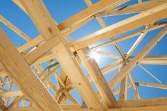 Nieuw huisbouw frame stock fotografie