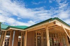 Nieuw huisbouw frame royalty-vrije stock fotografie