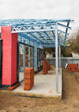 Nieuw huisbouw frame Stock Afbeelding