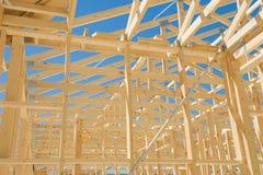 Nieuw huisbouw frame Stock Afbeeldingen