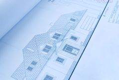 Nieuw huisplan Stock Foto