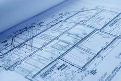 Nieuw huisplan Stock Afbeelding