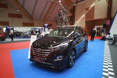 Nieuw Hyundai Tucson toont bij de auto van Maleisië van 2017 autoshow Royalty-vrije Stock Afbeeldingen