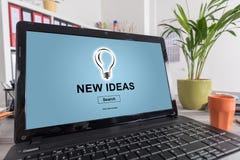 Nieuw ideeënconcept op laptop stock illustratie