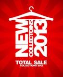 Nieuw inzamelingen 2013 ontwerp. stock illustratie