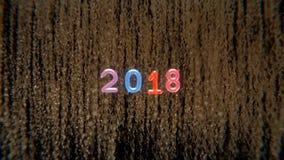 Nieuw jaar 2018 vector illustratie