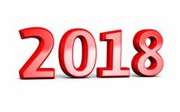 Nieuw jaar 2018 stock illustratie