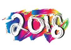 Nieuw jaar 2018 Stock Foto