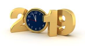 Nieuw jaar 2019 royalty-vrije illustratie