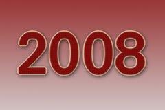 Nieuw jaar 2008 royalty-vrije illustratie