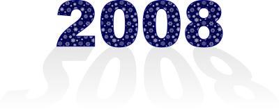 Nieuw jaar 2008 Royalty-vrije Stock Afbeeldingen