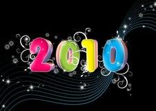 Nieuw jaar 2010 Royalty-vrije Stock Afbeeldingen