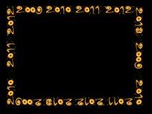 Nieuw jaar 2010, 2011, 2012, 2013 - frame Royalty-vrije Stock Afbeelding